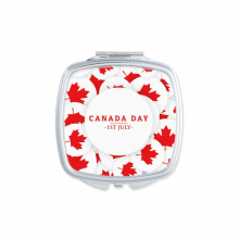 4th Of July Maple Leaf Happy Canada Day Square Compact Makeup Pocket Mirror Portable Cute Small Hand Mirrors Gift