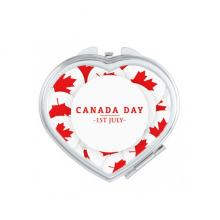 4th Of July Maple Leaf Happy Canada Day Heart Compact Makeup Pocket Mirror Portable Cute Small Hand Mirrors Gift