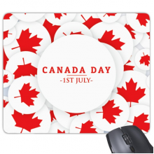 4th Of July Maple Leaf Happy Canada Day Rectangle Non-Slip Rubber Mousepad Game Mouse Pad Gift