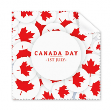 4th Of July Maple Leaf Happy Canada Day Glasses Cloth Cleaning Cloth Gift Phone Screen Cleaner 5pcs