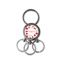 4th Of July Maple Leaf Happy Canada Day Metal Key Chain Ring Car Keychain Creative Trinket Keyring Novelty Item Best Charm Gift