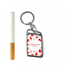 4th Of July Maple Leaf Happy Canada Day Cigarette Lighter USB Electric Arc Metal Flameless Rechargeable Windproof Lighter Elegant Gift Box