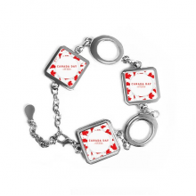 4th Of July Maple Leaf Happy Canada Day Square Shape Metal Bracelet Love Gifts Jewelry With Chain Decoration