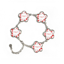 4th Of July Maple Leaf Happy Canada Day Flower Shape Metal Bracelet Chain Gifts Jewelry With Chain Decoration