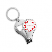 4th Of July Maple Leaf Happy Canada Day Metal Key Chain Ring Multi-function Nail Clippers Bottle Opener Car Keychain Best Charm Gift