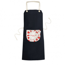4th Of July Maple Leaf Happy Canada Day Cooking Kitchen Black Bib Aprons With Pocket for Women Men Chef Gifts
