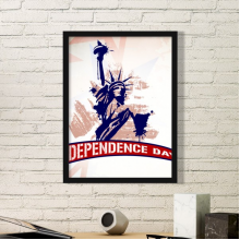 Statue Of Liberty Independant Day America Country City Simple Picture Frame Art Prints of Paintings Home Wall Decal