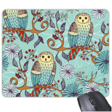 Blue Flower Owl Protect Animal Pet Lover Mouse Pad Non-Slip Rubber Mousepad Game Office