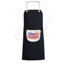 Bend Stars And Stripes America Country Flag Cooking Kitchen Black Bib Aprons With Pocket for Women Men Chef Gifts