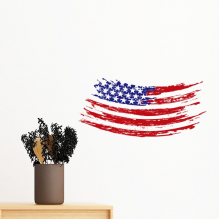 Bend Stars And Stripes America Country Flag Removable Wall Sticker Art Decals Mural DIY Wallpaper for Room Decal