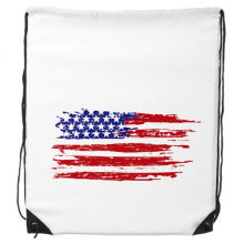 Stars And Stripes Air Brushing America Flag Country Drawstring Backpack Shopping Sports Bags Gift