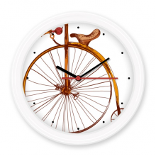 Old Fashioned Bicycle High Wheeler Britain Painting Silent Non-ticking Round Wall Decorative Clock Battery-operated Clocks Gift Home Decal
