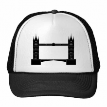 Britain London Tower Bridge Silhouette UK Trucker Hat Baseball Cap Nylon Mesh Hat Cool Children Hat Adjustable Cap Gift