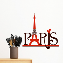 Eiffel Tower Paris France Country City Culture Removable Wall Sticker Art Decals Mural DIY Wallpaper for Room Decal