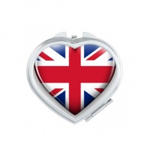 Union Jack Heart-shaped Britain UK Flag Heart Compact Makeup Pocket Mirror Portable Cute Small Hand Mirrors Gift