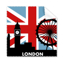 Britain Union Jack London Eye Big Ben Flag UK Glasses Cloth Cleaning Cloth Gift Phone Screen Cleaner 5pcs