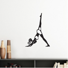 Leg Motion Yoga Girl Keep Healthy Sports Silhouette Silhouette  Removable Wall Sticker Art Decals Mural DIY Wallpaper for Room Decal