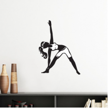 Yoga Girl Stretching Keep Healthy Sports Silhouette Silhouette  Removable Wall Sticker Art Decals Mural DIY Wallpaper for Room Decal