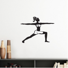 Yoga Girl Keep Healthy Sports Silhouette Silhouette  Removable Wall Sticker Art Decals Mural DIY Wallpaper for Room Decal