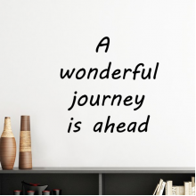 A Wenderful Journey Is Ahead Inspirational Quote Sayings Silhouette  Removable Wall Sticker Art Decals Mural DIY Wallpaper for Room Decal