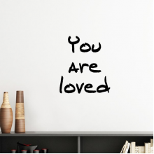 You Are Loved Inspirational Quote Sayings Silhouette  Removable Wall Sticker Art Decals Mural DIY Wallpaper for Room Decal