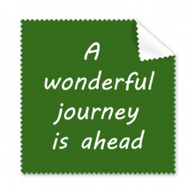 A Wenderful Journey Is Ahead Inspirational Quote Sayings Glasses Cloth Cleaning Cloth Gift Phone Screen Cleaner 5pcs