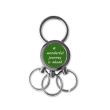 A Wenderful Journey Is Ahead Inspirational Quote Sayings Metal Key Chain Ring Car Keychain Creative Trinket Keyring Novelty Item Best Charm Gift