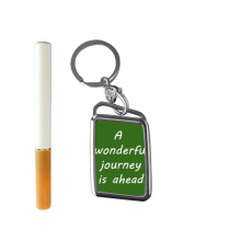 A Wenderful Journey Is Ahead Inspirational Quote Sayings Cigarette Lighter USB Electric Arc Metal Flameless Rechargeable Windproof Lighter Elegant Gift Box