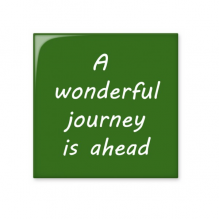 A Wenderful Journey Is Ahead Inspirational Quote Sayings Ceramic Bisque Tiles for Decorating Bathroom Decor Kitchen Ceramic Tiles Wall Tiles