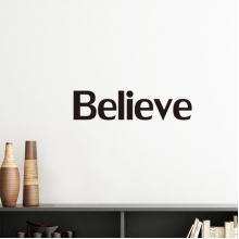 Believe Word Inspirational Quote Sayings Silhouette  Removable Wall Sticker Art Decals Mural DIY Wallpaper for Room Decal