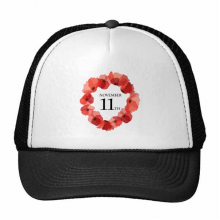 Art Painting Corn Poppy Garland Remembrance Day UK Trucker Hat Baseball Cap Nylon Mesh Hat Cool Children Hat Adjustable Cap Gift