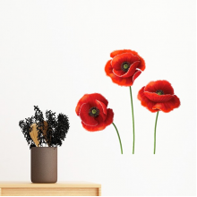 Art Painting Corn Poppy Red Flowers Removable Wall Sticker Art Decals Mural DIY Wallpaper for Room Decal