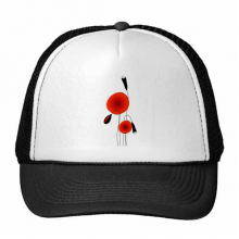 Abstract Red Circle Flowers Art Painting Corn Poppy Trucker Hat Baseball Cap Nylon Mesh Hat Cool Children Hat Adjustable Cap Gift