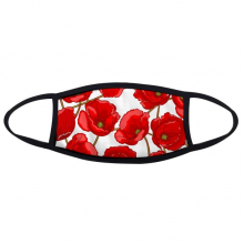 Art Painting Red Flowers Decoration Corn Poppy Bespread Face Anti-dust Mask Anti Cold Maske Gift