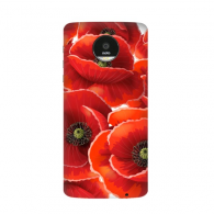 Red Flowers Art Painting Decoration Corn Poppy Bespread Motorola Moto Z /Z Force Droid Magnetic Mods Phonecase Style Mod Gift
