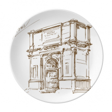 The Arch of Constantine Rome Constantine Landmark Pattern Decorative Porcelain Dessert Plate 8 inch Home Decal Gift