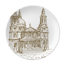 St.Paul's Cathedral Britain England London Iandmark Pattern Decorative Porcelain Dessert Plate 8 inch Home Decal Gift