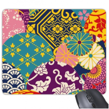 Flowers Leaves Lines Pattern China Japanese Style Mouse Pad Non-Slip Rubber Mousepad Game Office