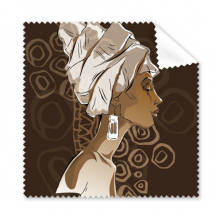 African Black Women Aboriginal Headdress Art Glasses Cloth Cleaning Cloth Gift Phone Screen Cleaner 5pcs
