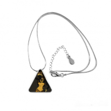 African Black Women Aboriginal Dresses Triangle Shape Pendant Necklace Jewelry With Chain Decoration Gift