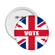Britain UK Flag Vote For General Election Round Pins Badge Button Clothing Decoration Gift 5pcs