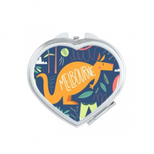 Melbourne Australia Kangaroo Tennis Surfing Heart Compact Makeup Pocket Mirror Portable Cute Small Hand Mirrors Gift