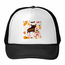 Madrid Spanish Bullfight Music Fiesta Trucker Hat Baseball Cap Nylon Mesh Hat Cool Children Hat Adjustable Cap Gift