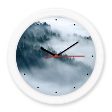 Fog Forest Mountain Sky Cloud Silent Non-ticking Round Wall Decorative Clock Battery-operated Clocks Gift Home Decal