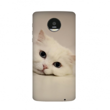 Cat White Kitty Pet Animal Relax Motorola Moto Z / Z Force / Z2 Force Droid Magnetic Mods Phonecase Style Mod Gift