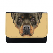 Black Ferocious Rottweiler Dog Pet Animal Multi-Function Faux Leather Wallet Card Purse Gift