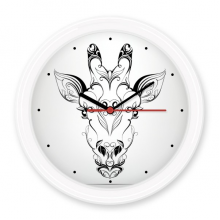 Tibetan antelope Animal Portrait Silent Non-ticking Round Wall Decorative Clock Battery-operated Clocks Gift Home Decal