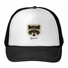 Little Mischievous Brown Raccoon Animal Trucker Hat Baseball Cap Nylon Mesh Hat Cool Children Hat Adjustable Cap Gift