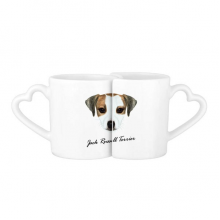 Jack Russell Terrier Dog Pet Animal Lovers' Mug Lover Mugs Set White Pottery Ceramic Cup Gift with Handles