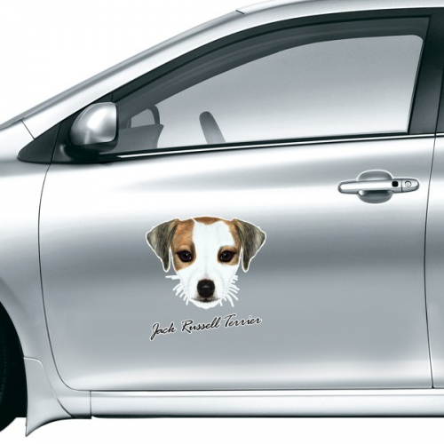 Jack Russell Terrier Dog Pet Animal Car Sticker on Car Styling Decal Motorcycle Stickers for Car Accessories Gift